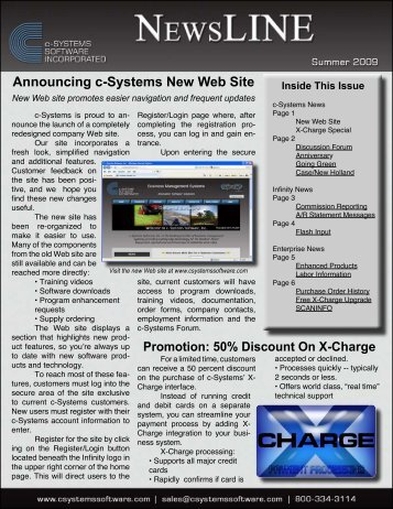Announcing c-Systems New Web Site - c-Systems Software, Inc.