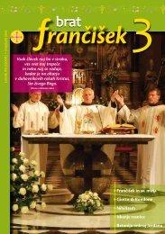 Urednikova beseda bf 3/2010 - Frančiškani v Sloveniji