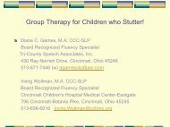 Group Therapy for Children who Stutter! - Fluency Friday Plus