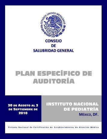 Plan de Auditoria - Instituto Nacional de Pediatría