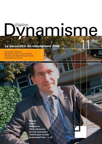 Dynamisme 189 xp pour pdf - Union Wallonne des Entreprises