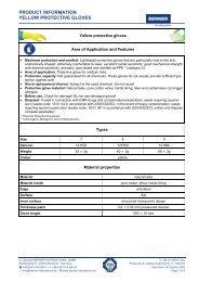 Product information Protective Gloves - BERNER International GmbH