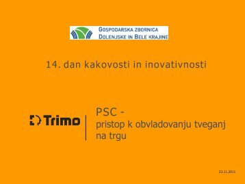 PSC - pristop k obvladovanju tveganj na trgu - GZDBK