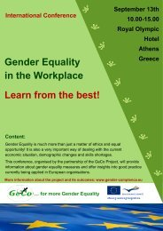 Gender Equality in the Workplace Learn from the best!