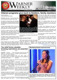 Veteran programs give back to Soldiers, family members