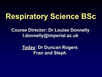 Respiratory Science