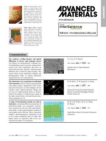 Volume 15, Issue 7-8 (April, 2003)
