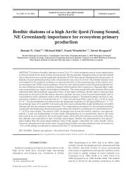 Benthic diatoms of a high Arctic fjord (Young Sound, NE Greenland ...
