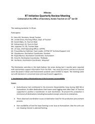 RT Initiative Quarterly Review Meeting Convened ... - Kerala Tourism