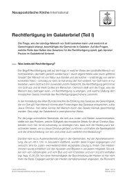 Rechtfertigung im Galaterbrief (Teil I)
