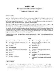 Muster - Liste der Technischen Baubestimmungen ... - Tischler.de