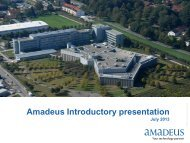 Amadeus IPO - Investor relations at Amadeus