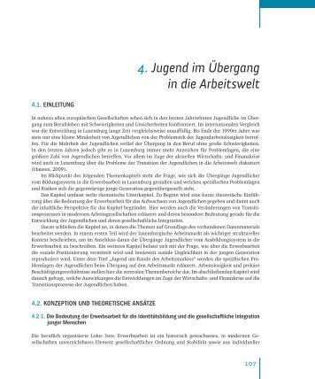 Chapitre 4 : Jugend im Übergang in die Arbeitswelt. - Ministère de la ...