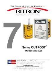 Download Manual - Ritron