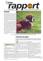 Smärta hos djur God Jul - Doggy Rapport