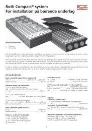 Roth Compact® system For installation på bærende underlag