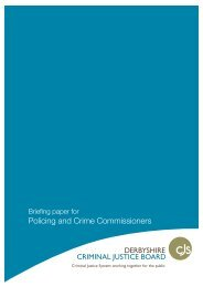Briefing Pack for PCCs on the Criminal Justice Board - Derbyshire ...
