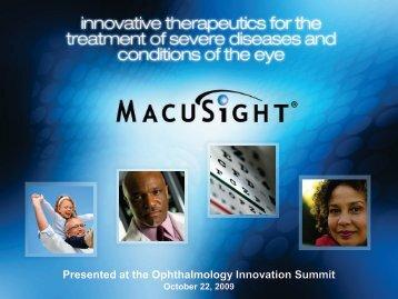 MacuSight - Ophthalmology Innovation Summit (OIS)