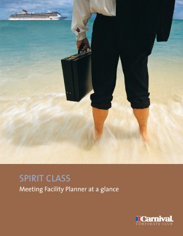 CCPP09979 Spirit Meeting Planner - Carnival Cruise Lines