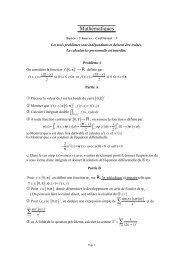 Mathématiques ∫∫ ∫ ∫ (y)dy+ ∫ ∑ ∑ ∑ - Concours ENSEA