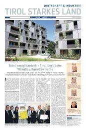 Total energieautark – Tirol liegt beim Wohnbau-Knowhow vorne