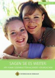 Sagen Sie es weiter - Österreichische Krebshilfe
