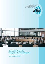 Nationales Forum für Engagement und Partizipation - BBE