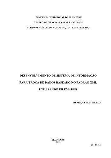 desenvolvimento de sistema de informação para ... - Projeto Pesquisa
