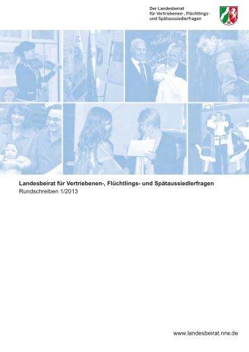 Rundschreiben 1/2013 - Landesbeirat für Vertriebenen-, Flüchtlings ...