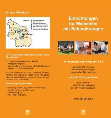 Einrichtungen für Menschen mit Behinderungen - Sozial-Betriebe-Köln