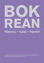 Bokrean - historia, nutid, framtid - Svenska Förläggareföreningen
