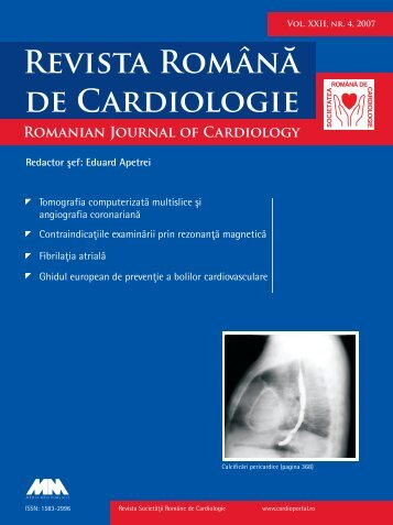 Nr. 4, 2007 - Romanian Journal of Cardiology