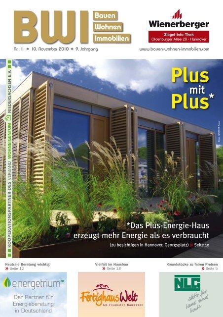 Plus-Energie-Haus - Bauen Wohnen Immobilien