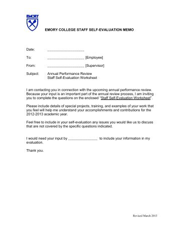 SelfEvaluation Form