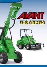 The all-new AVANT 500 Series Ergonom - Ramirent