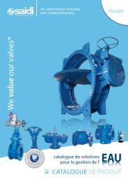 Catalogue de solutions pour la gestion de l'eau - SAIDI