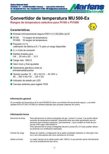 MU500Ex-00- Prospekt - Martens Elektronik GmbH