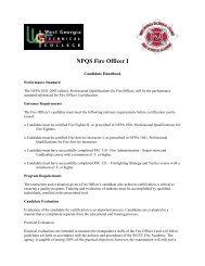NPQS Fire Officer I