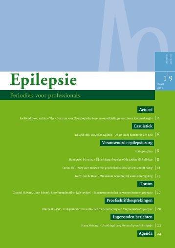 Epilepsie, periodiek voor professionals (maart 2011) - Nederlandse ...