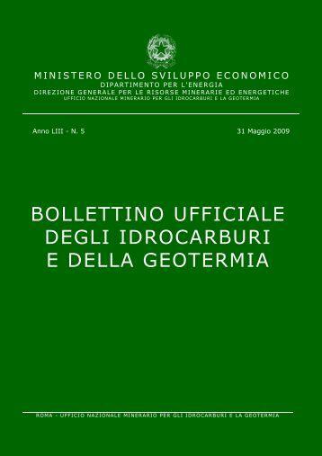 Bollettino ufficiale degli idrocarburi e della geotermia - Unmig ...