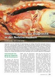 Positionspapier zur Diagnostik in der Nutztiermedizin - Arbeitskreis ...