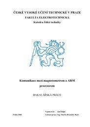 Komunikace mezi magnetometrem a ARM procesorem - wiki