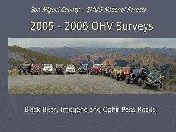 2006 OHV Survey - San Miguel County