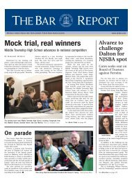 Mock trial, real winners - New Jersey State Bar Association