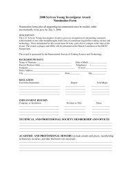 2008 Scriven Young Investigator Award Nomination Form