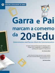Reportagem 20 anos Educar/Educador - Futuro Eventos