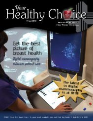 Health News from Holy Family Memorial Fall 2010