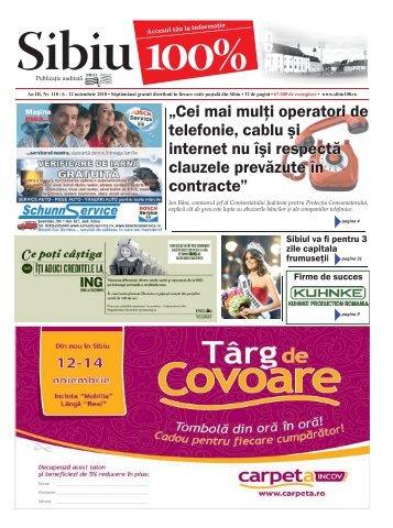 """""""Cei mai mulţi operatori de telefonie, cablu şi internet nu ... - Sibiu 100"""