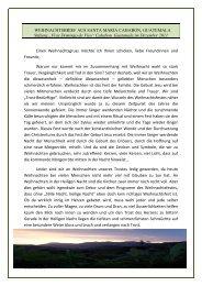 Neuer Rundbrief von Pater Christoph Gempp auf Weihnachten 2011