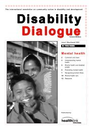 Disability Dialogue Issue 2 : Mental health - Source